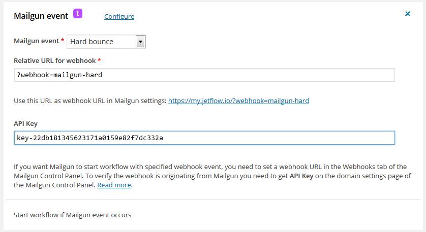 Mailgun trigger workflow