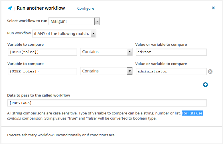 Run another workflow conditionally